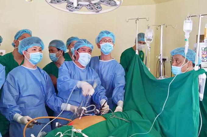 Đây là lần đầu tiên tại TP HCM, một ca ghép thận được thực hiện tại bệnh viện ngoài công lập. Ảnh: M.L