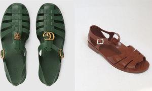 Sandal giá 490 USD của Gucci 'y chang' dép rọ bộ đội Việt Nam