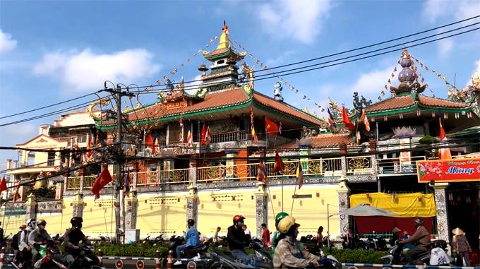 An Phú là một trong những cổ tự lớn nhất ở TP HCM. Ảnh: Thiên Chương