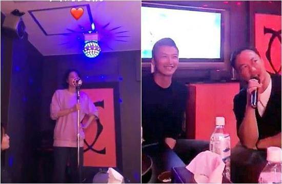 Vương Phi, Tạ Đình Phong và bạn bè đi hát karaoke.