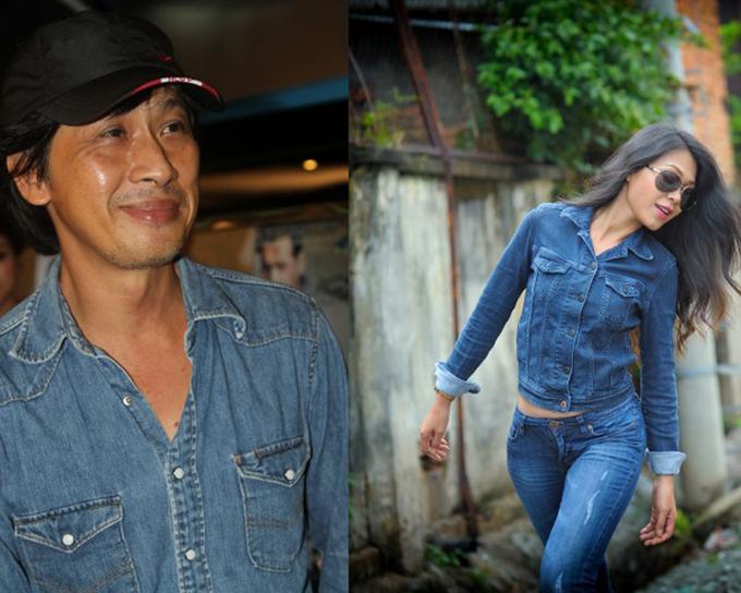 Dạo diễn Lưu Huỳnh và diễn viên Đinh Y Nhung.
