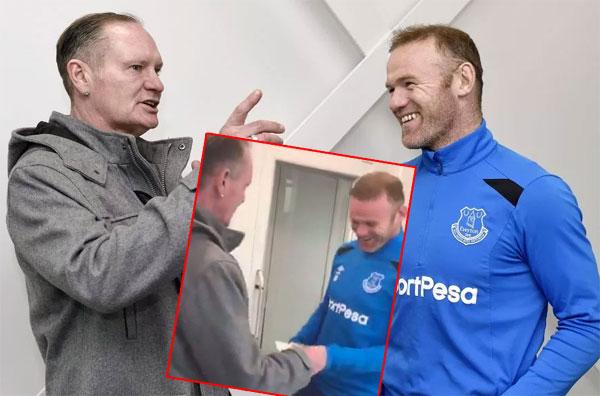 Siêu quậy Gascoigne gặp lại Rooney, tái hiện hành động thưởng tiền