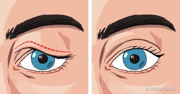 Tập thể dục cho mắt Mỗi ngày, dành ra 5 phút tập thể dục cho mắt bằng cách nâng cơ mắt lên và xuống 20 lần.