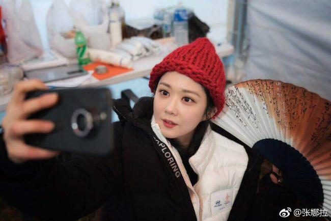 Những khoảnh khắc dễ thươngđược mỹ nhân Hàn chia sẻ trên mạng xã hội, kèm theo lời chúc các vậnđộng viên thiđấu thành công.