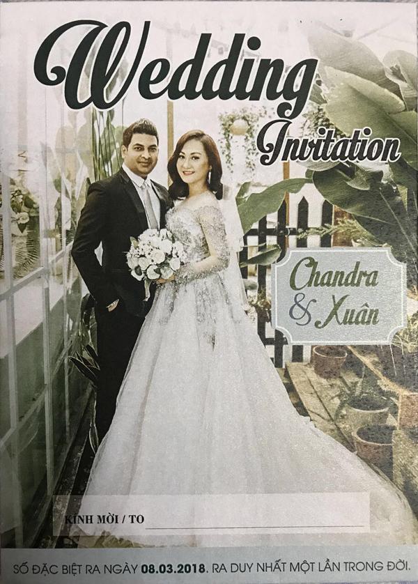 Hôn lễ diễn ra vào ngay 8.2.18 tại Ấn Độ va - vao ngay8.3.18 đám cưới tai tphcm,tham dự tiệc cuoi gồm có các anh chị em nghệ sĩ va các bạn đồng nghiệp đến dự...
