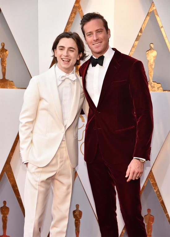 Cặp đôiTimothee Chalamet vàArmie Hammer của phim đề cử Oscar Call Me By Your Name.