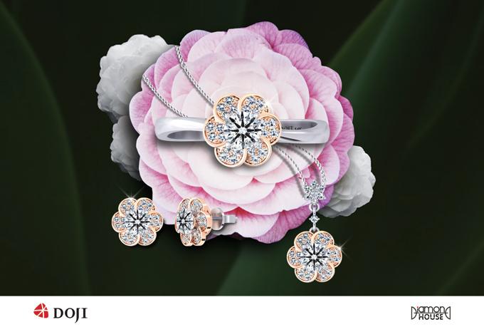 Từ vẻ đẹp và ý nghĩa của trà my, thương hiệu DOJI lựa chọn loài hoa này là điểm nhấn cho bộ sưu tập trang sức Như đóa trà my, ra mắt vào dịp 8/3 tới.
