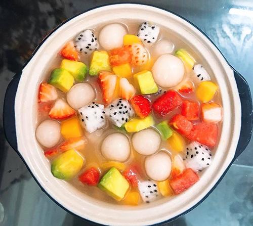 Chè hoa quả trân châu dẻo thanh mát - 2