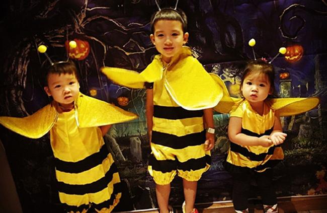Ba thiên thần nhỏ của vợ chồng Trần Hào, Trần Nhân Mỹ.
