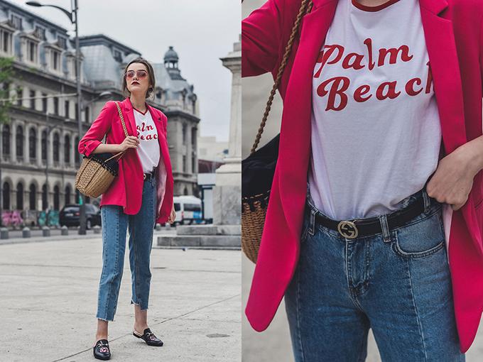Sử dụng dây lưng da cùng các kiểu quần jean, short và quần âu là cách làm thông dụng nhất để xây dựng vẻ đẹp trẻ trung và hiện đại.