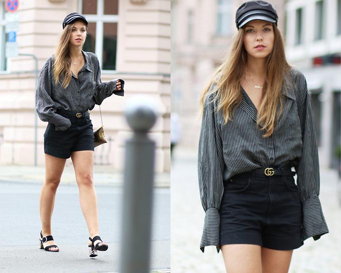 Dây thắt lưng da đen của thương hiệu Gucci là một trong những món phụ kiện được các fashionista thế giới ưa chuộng. Khi sử dụng nó, mỗi người lại có những lối mix-match khác nhau để tạo nên nét cá tính riêng.