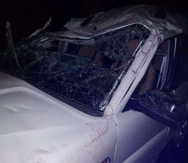 Chiếc xe của Himanshu bị phá hủy nghiêm trọng trong tan nạn.
