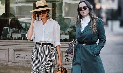 Phối trang phục đa phong cách cùng một kiểu thắt lưng Gucci