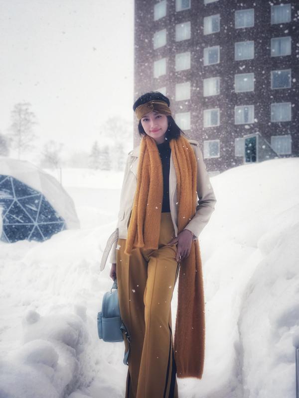 Hình chụp sáng nay giữ trời tuyết rơi của Hokkaido , lạnh -7 độ