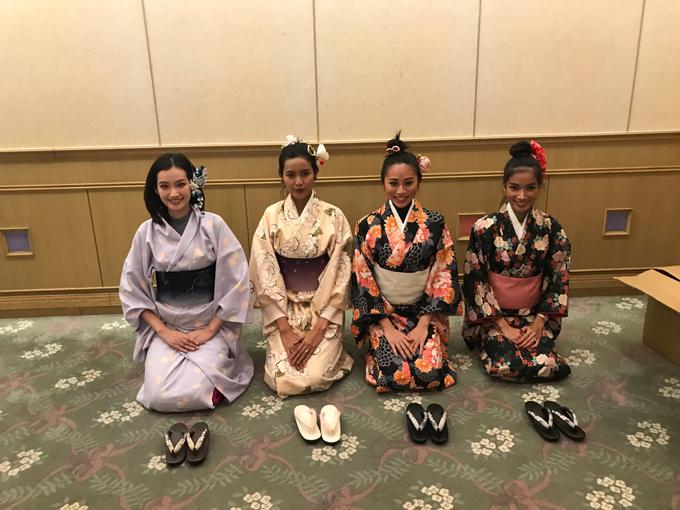 TD hội ngộ các ng đẹp đến từ Malaysia, Indonesia, Thailand trong trang phục Kimono