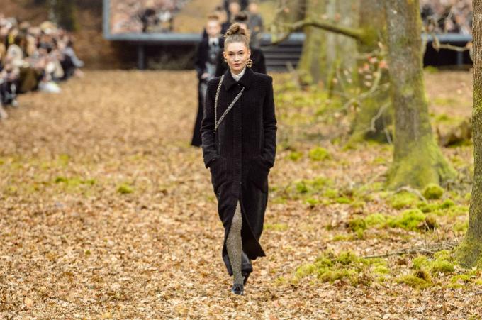 Người mẫu của Chanel sải bước trong khu rừng mùa thu - 1