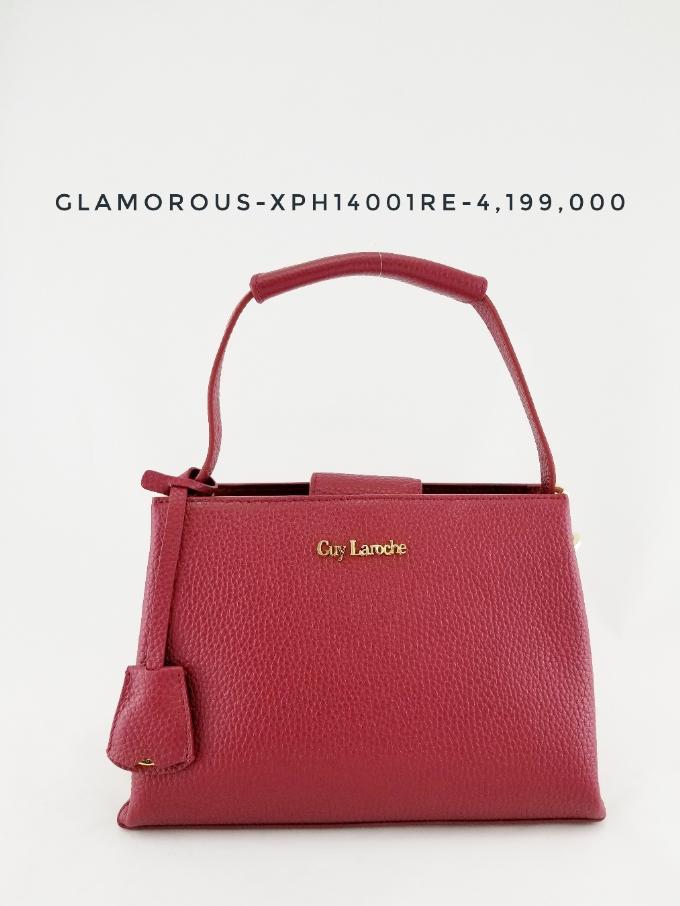 Bộ sưu tập Glamorous cùng dáng túi messenger bag nhỏ xinh và màu đỏ tươi bắt mắt.
