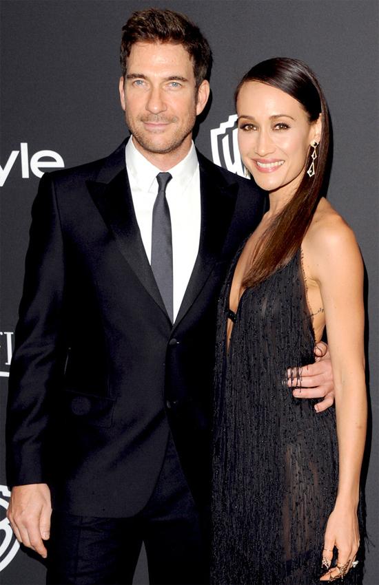 Maggie Q và vị hôn phu Dylan McDermott.