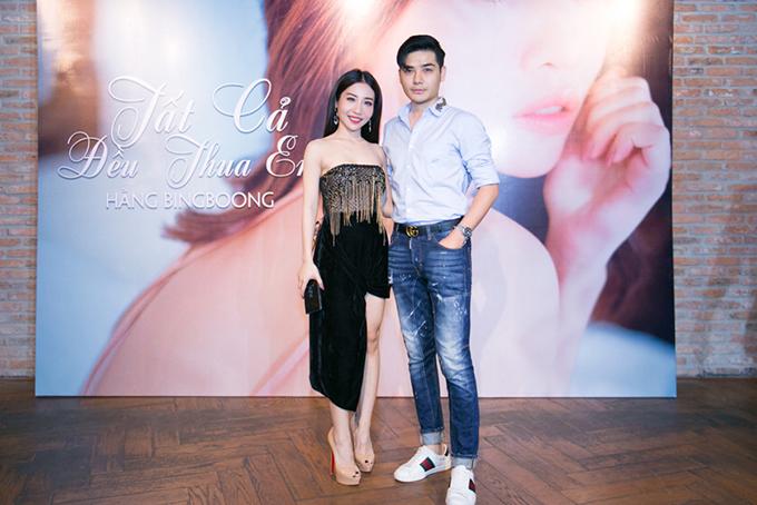 Đến chúc mừng Hằng BingBoong còn có Nakun Trần Tùng Anh. Hiện, nam ca sĩ gần như giải nghệ, chuyển hẳn sang kinh doanh thời trang.