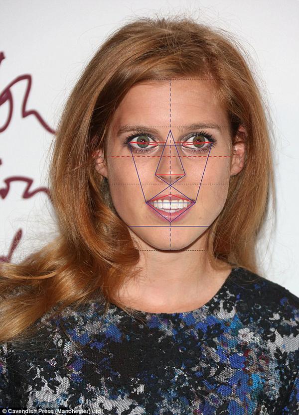 Công chúa Beatrice xếp ở vị trí thứ tư với với 80,7%. Cô ấy có chiếc mũi rất đẹp nhưng lại mất điểm ở phần cằm,
