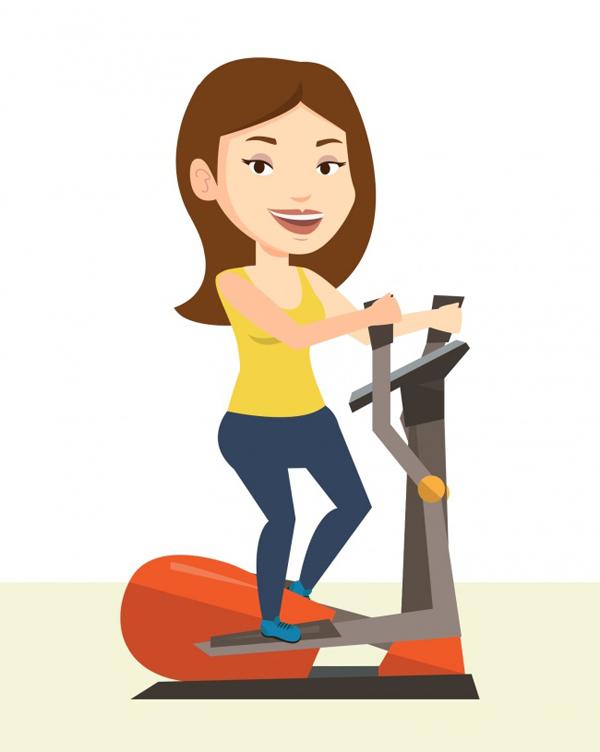 Bài tập đạp xe Bài tập đạp xe rất tốt cho tim mạch, giúp vận động toàn bộ nhóm cơ bụng, mông và đùi, giúp làm săn chắc các vùng này.