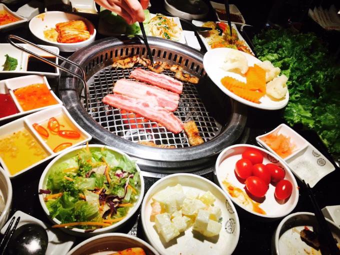 Thực đơn tại KingBBQ Alacarte gồm nhiều món ăn tươi ngon.