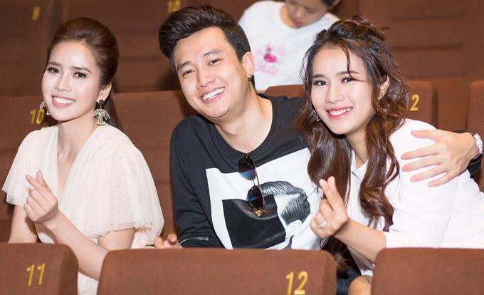 Quốc Trường (giữa) tình cảm bên hai bạn diễn Bella Mai và Mai Bảo Ngọc. Phim Nếu còn có ngày mai phát sóng vào 14h20 thứ bảy và chủ nhật hàng tuần trên Đài truyền hình Việt Nam, bắt đầu từ ngày 10/3.