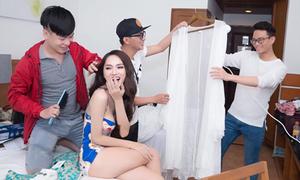 Hậu trường làm đẹp cho Hương Giang tại Hoa hậu Chuyển giới