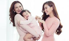 Á hậu Diễm Trang lần đầu chụp ảnh 8/3 cùng mẹ và con gái cưng