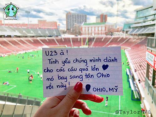 Cổ động viên đưa U23 Việt Nam đi khắp thế giới