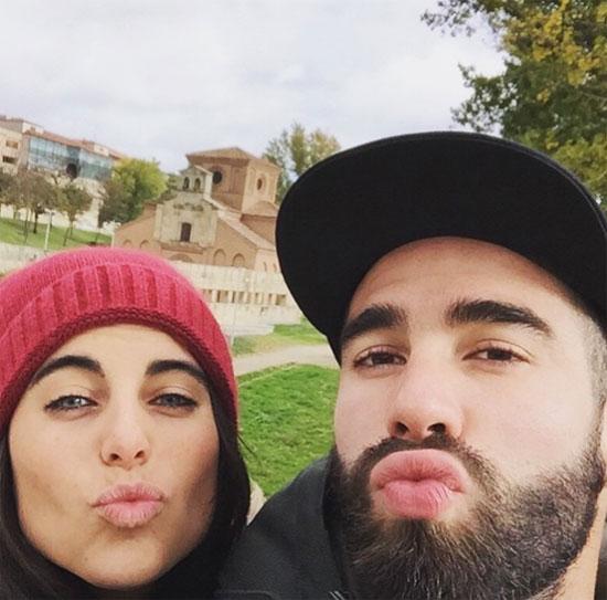 Carvajal và bạn gái khi còn bên nhau. Ảnh: NS.