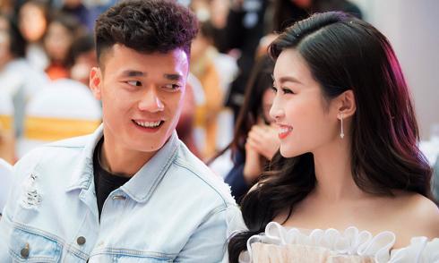 Hoa hậu Đỗ Mỹ Linh tái ngộ thủ môn Bùi Tiến Dũng
