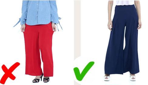 Lưu ý cần biết khi mặc dáng quần suông rộng