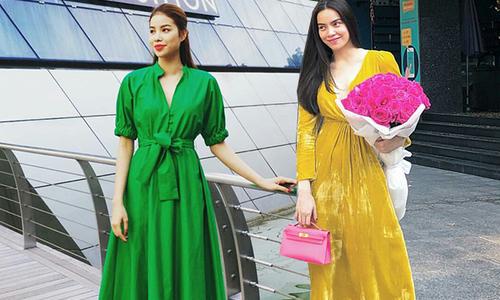Đầu mùa nắng, sao Việt diện trang phục rực rỡ sắc màu