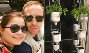 Vườn rau treo ngược trong phòng khách của mẹ Việt ở Nhật