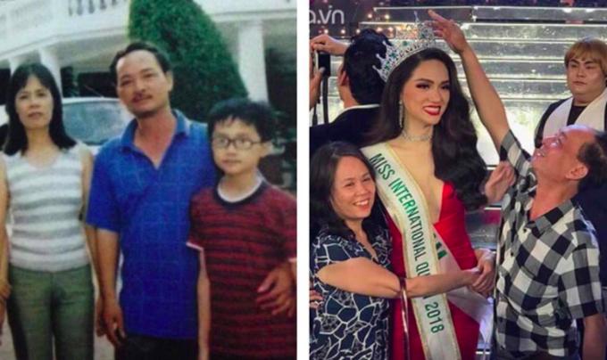 Sau khi đăng quang danh hiệu Hoa hậu Chuyển giới quốc tế, Hương Giang Idol đã đăng bức ảnh chụp cùng bố mẹ khi cô còn là một cậu bé và bức ảnh bố mẹ chúc mừng cô trên sân khấu sau buổi lễ, kèm lời cảm ơn và viết: Hãy tin rằng điều gì cũng có thể xảy ra trong cuộc sống này, chỉcần bạn có niềm tin và nỗ lực cho niềm tin đó.Tăng Thanh Hà đeo kính và đội mũ bơi ngộ nghĩnh khi đi bơi với các con.