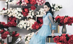 Mẫu nhí 13 tuổi cao 1m70 khoe dáng với váy dạ hội