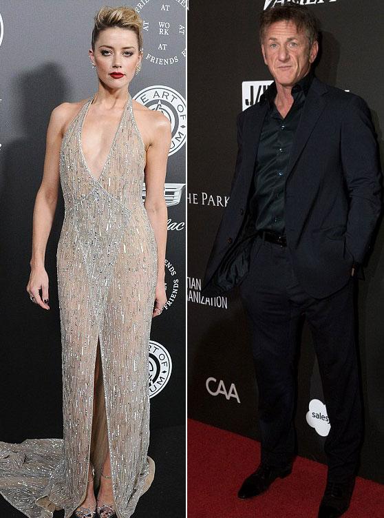 Amber Heard và Sean Penn.