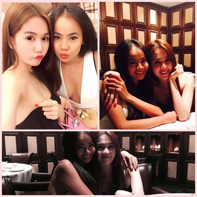 Ngọc Trinh ở bênTammy Le trong ngày sinh nhật cô bạn thân thiết.