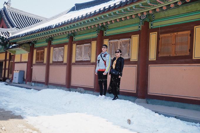 Văn Mai Hương mặc đồ đôi, tình tứ bên Bình An ở Hàn Quốc - 7