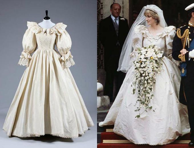 Chiếc váy cưới mang hơi hướng Gothic của Công nương.