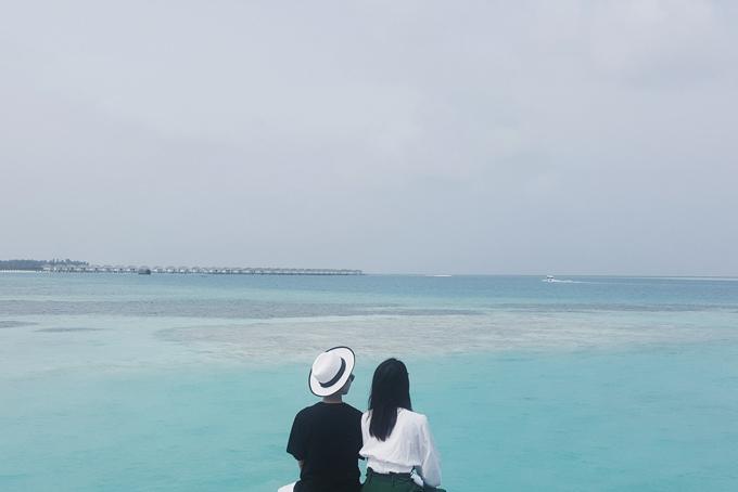 Kỳ nghỉ ở Maldives nắng ấm của MC Quỳnh Chi và Thuỳ Dung - 1