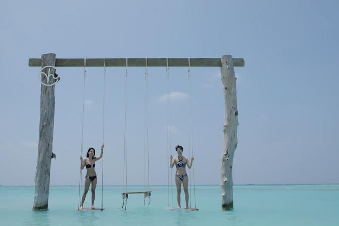 Kỳ nghỉ ở Maldives nắng ấm của MC Quỳnh Chi và Thuỳ Dung - 10