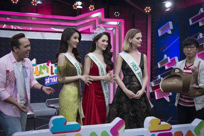 Chương trình đã dành tặng Hương Giang một món quà bất ngờ. Đó là đoạn video do ngôi sao The Face Thái Lan là Lukkade tự quay để chúc mừng cô đăng quang Hoa hậu.