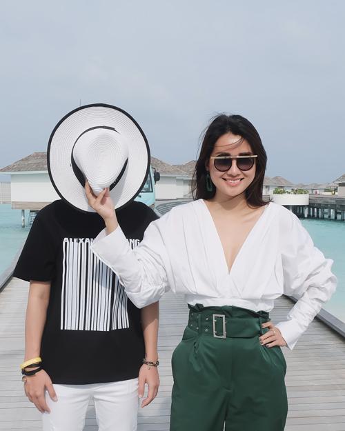 Kỳ nghỉ ở Maldives nắng ấm của MC Quỳnh Chi và Thuỳ Dung - 5