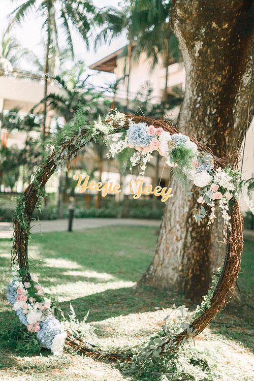 Cổng hoa hình tròn: Không chỉ để trang trí, đó là biểu tượng của vĩnh cửu - 5