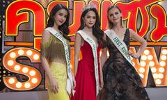Hương Giang bị hỏi chuyện mua giải Hoa hậu trên sóng trực tiếp của đài Thái Lan