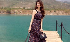 Trần Thu Hằng gợi ý chọn trang phục hoa cho mùa nắng