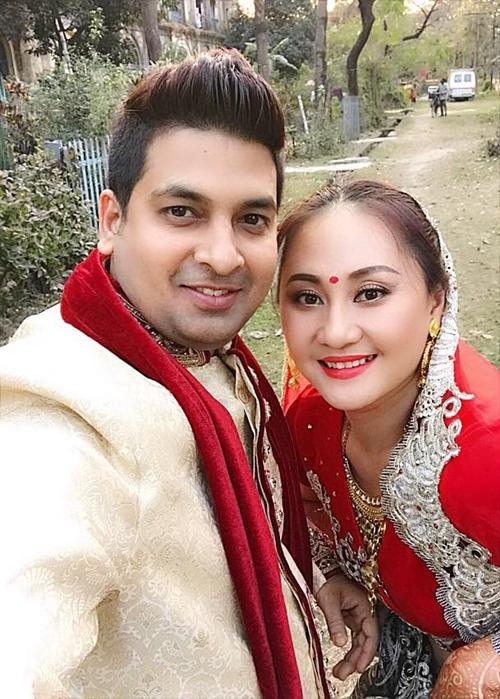 Ngọc Xuân và doanh nhân 38 tuổiChandra đã nên duyên vợ chồng.