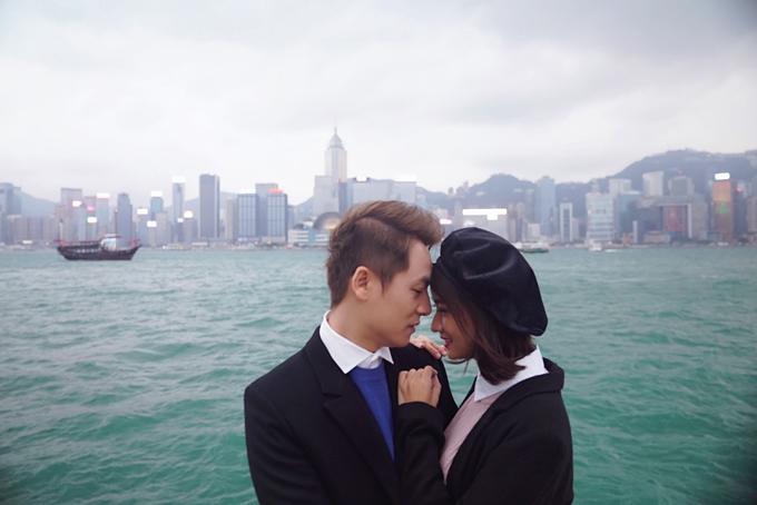 Đăng Khôi tình cảm với em gái mưa Thanh Vy ở Hong Kong - 2